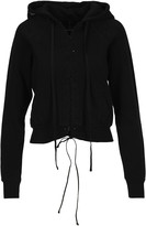 Taverniti So Ben Unravel Project Unravel Lace-up Cropped Hoodie