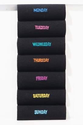 Next Mens Black Days Of The Week Socks Pack - Black
