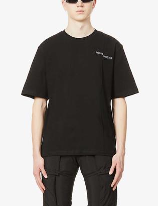 Pieces Uniques Couture brand-print cotton-jersey T-shirt