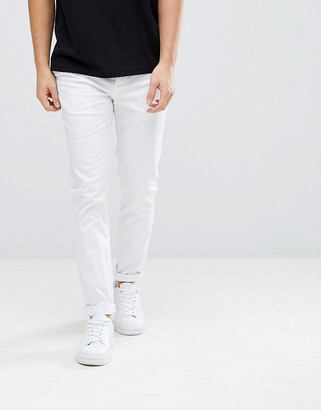 Asos Design DESIGN skinny chinos in white