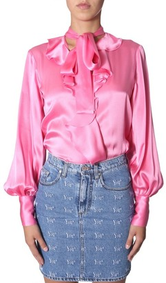 MSGM Balloon Sleeve Bow Shirt