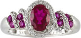 JCPenney FINE JEWELRY Lab-Created Ruby and White Sapphire Sterling Silver Ring