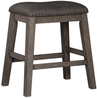 Signature Design by Ashley Caitbrook Dark Gray Upholstered Counter Height Barstool