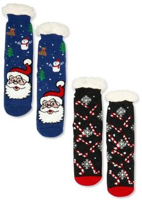 Great Christmas Women's Warm & Cozy Slipper Sock, 2-Pack