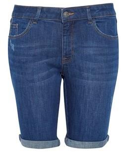 Dorothy Perkins Womens Dp Petite Indigo Denim Knee Shorts