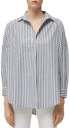 French Connection Rhodes Striped Pullover Cotton Shirt
