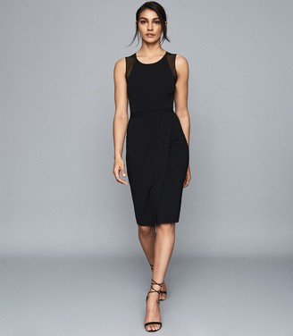 Reiss Leila - Knitted Bodycon Dress in Black