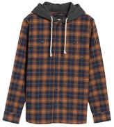 Vans Men's Lopes Hooded Plaid Shirt Jacket