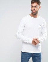 Penfield Plano Long Sleeve Top Small P Logo in White