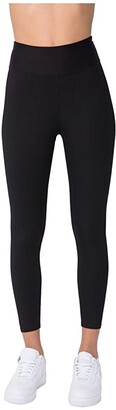 YEAR OF OURS Ribbed Jogger Leggings (Black) Women's Clothing