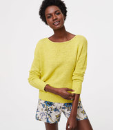 LOFT Petite Drop Shoulder Sweater