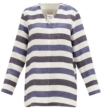 Max Mara S Magico Top - Womens - Blue White