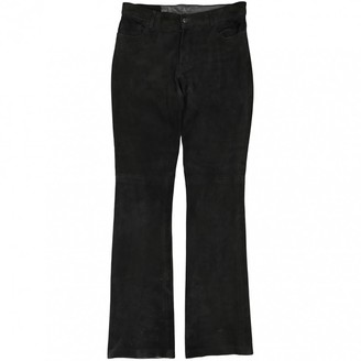 Ralph Lauren Black Leather Trousers