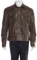 Dolce & Gabbana Military Leather Jacket