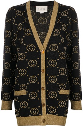 Gucci GG Supreme lame cardigan