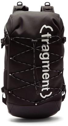 Moncler 7 Fragment - Logo-print Canvas Backpack - Mens - Black