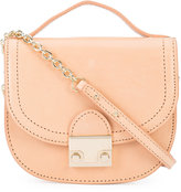 Loeffler Randall logo embossed saddle crossbody bag - women - Calf Leather - One Size