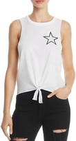 Chaser Star Tie-Front Muscle Tee
