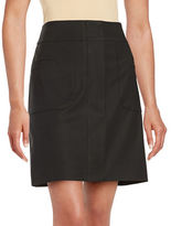 Lord & Taylor Doubleweave A-Line Skirt