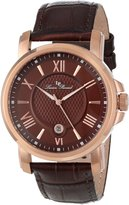 Lucien Piccard Men's LP-12358-RG-04 Cilindro Textured Dial Leather Watch