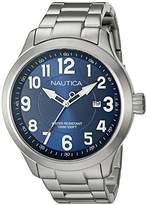Nautica Men's NAD12524G NCC 01 Date Analog Display Analog Quartz Silver Watch