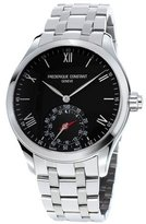 Frederique Constant Gents 42mm Horological Smartwatch w/Bracelet Strap, Silver/Black