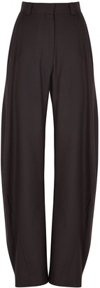 Eftychia Grampa Dark Brown Wool Trousers