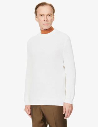 Ermenegildo Zegna Textured wool and cashmere-blend jumper