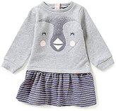 Joules Baby/Little Girls 12 Months-3T Rae Penguin Long-Sleeve Striped-Skirt Jumper Dress