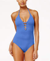 LaBlanca La Blanca Strappy Plunge One-Piece Tummy-Control Swimsuit Women's Swimsuit