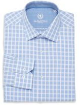 Bugatchi Shaped-Fit Plaid Cotton Dress Shirt