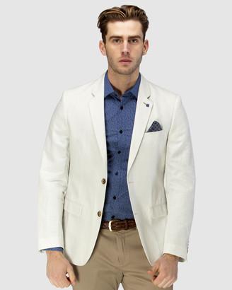 Brooksfield Linen Blend Textured Plain Blazer