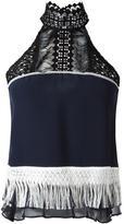 Jonathan Simkhai fringe racer blouse