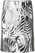 Marc Cain zebra print skirt