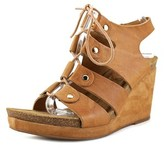 Sofft Carita Open Toe Leather Wedge Sandal.