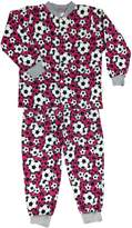 Timeke Little Girls Soccer Print Cotton Flannel Pajama Set