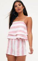 PrettyLittleThing Pink Bold Stripe Beach Shorts