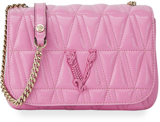 Versace Virtus Quilted Lamb Leather Shoulder Bag