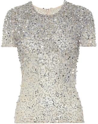 Valentino Embellished cotton-blend top