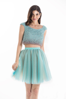 Terani Couture Charming Beaded Two-piece Scoop Neck Short A-line Dress 1521H0100A