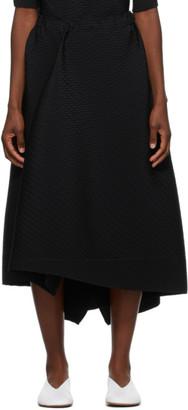 Issey Miyake Black Pleated Bits Skirt