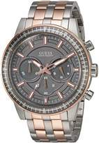 GUESS GUESS? Men's U0801G2 Sporty Rose Gold-Tone Stainless Steel Watch with Chronograph Dial and Pilot Buckle