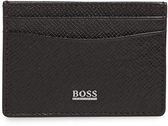 HUGO BOSS Signature Leather Money Clip