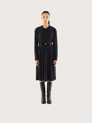 Salvatore Ferragamo Women Belted long cardigan Black