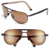 Maui Jim Men's 'Leeward Coast - Polarizedplus2' 61Mm Sunglasses - Black/ Neutral Grey