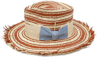 Nick Fouquet Terracrema Two-Tone Straw Fedora Hat