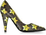 Moschino Super Stars Leather Pump