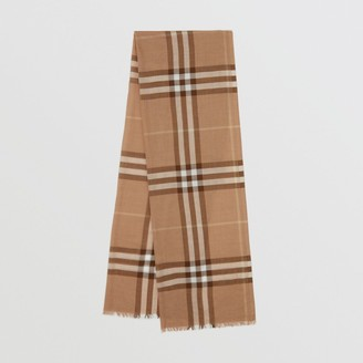 Burberry Lightweight Check Wool Silk Scarf