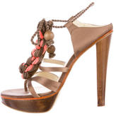 Stella McCartney Rope-Accented Satin Sandals
