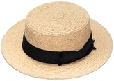 Justine Hats Classic Boater Straw Hat